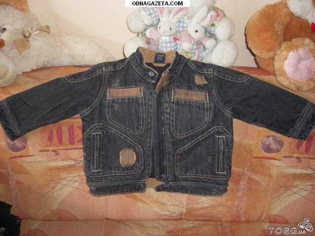 купить Джинсовый утепленный пиджак, рост 92 кривой рог объявление 1