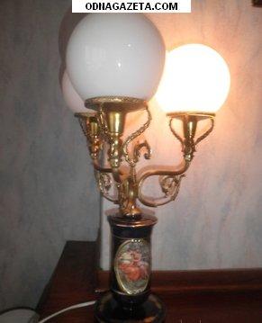 купить Настольная лампа Capodimonte (Италия): фарфор, кривой рог объявление 1