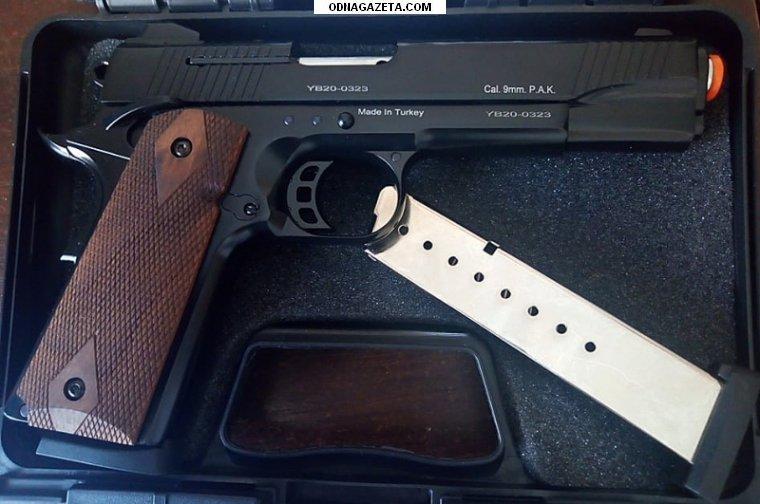 купить Стартовый пистолет Kuzey 911 черный кривой рог объявление 1