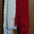 купить Зимние 2 шарфа белый и красный  кривой рог объявление