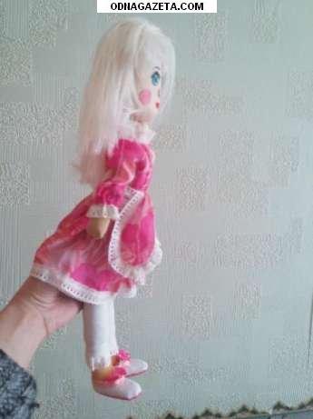 купить Кукла тканевая, наполнитель синтепон, личико кривой рог объявление 1