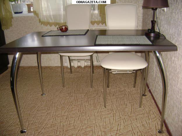 купить Новый стол на хромированных ножках: кривой рог объявление 1