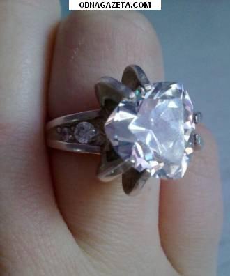 купить Серебряное кольцо с фианитом. 115 кривой рог объявление 1